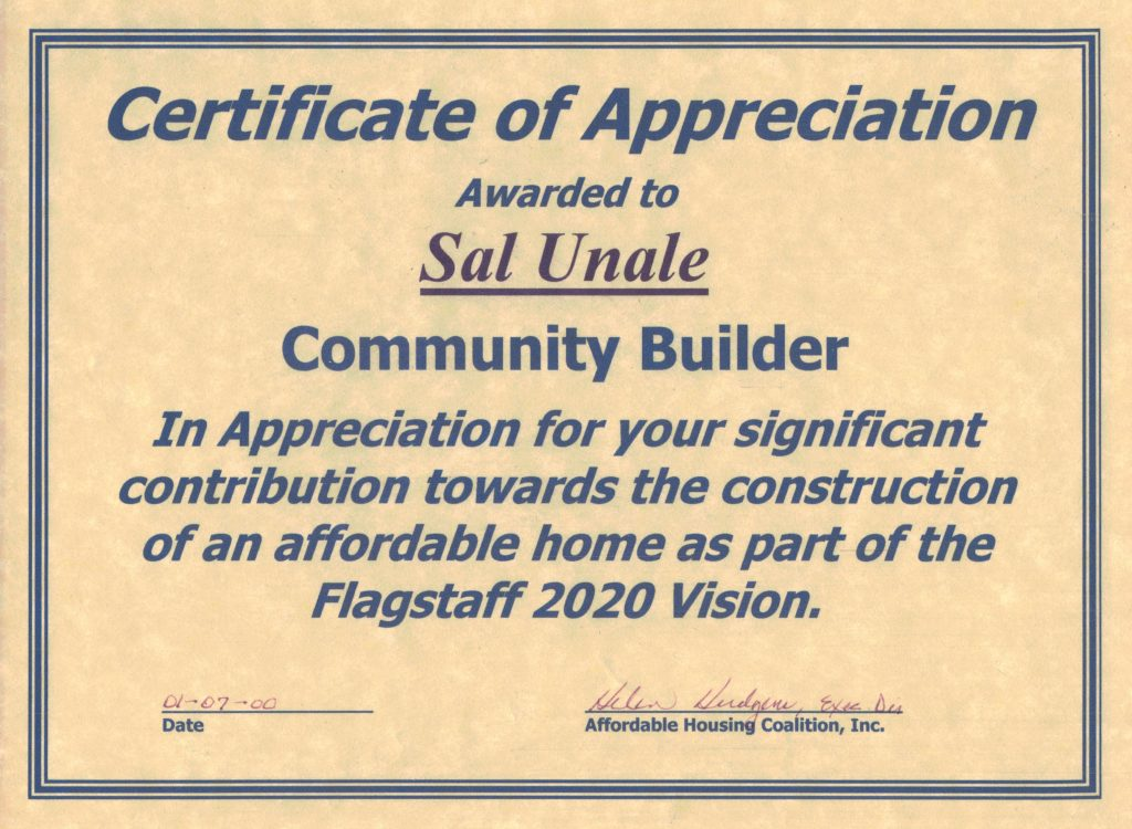 Photo galleries us building co certificate of appreciation from flagstaff inc for christmas in april yadclub Choice Image